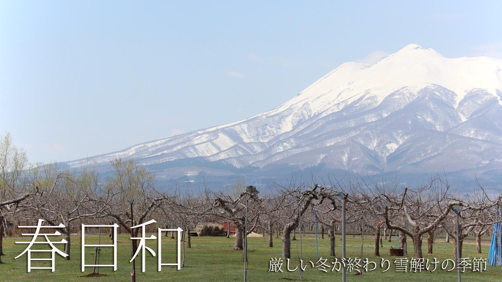 春日和 厳しい冬が終わり雪解けの季節