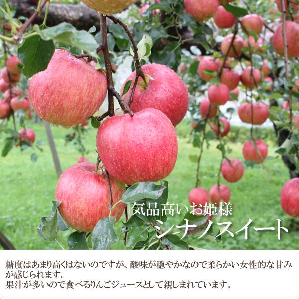 気品高いお姫様 シナノスイート 糖度はあまり高くないのですが、酸味が穏やかなので柔らかい女性的な甘さが感じられます。果汁がおおいので、食べるりんごジュースとして親しまれています。